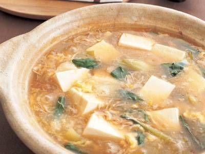 帆立てのトロトロ湯豆腐