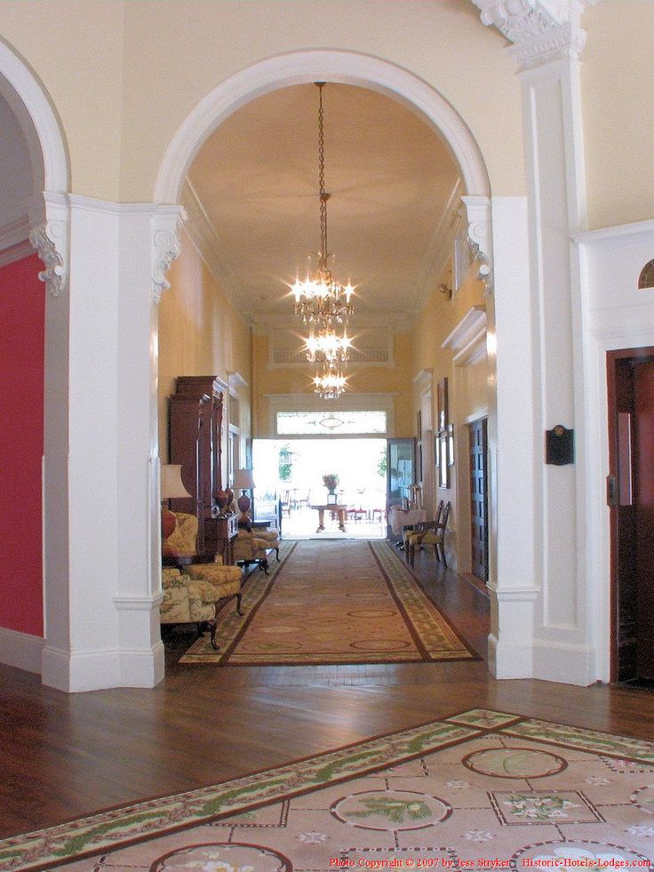 Foyer And Entrance Of The Windsor Hotel : Images about architecture pilasters capitals and