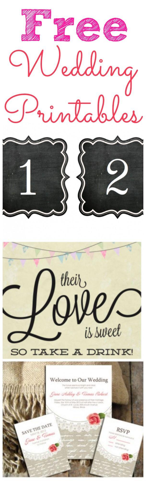 14 best wedding printables images on pinterest rustic wedding chic free wedding printables for your wedding junglespirit Image collections