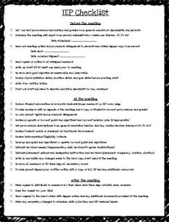 Teaching Special Thinkers: IEP Checklist FREEBIE & Caseload Binder