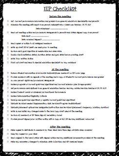 Teaching Special Thinkers: IEP Checklist FREEBIE & Caseload Binder