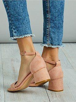 Suédine En Kiabi Chaussures Sandales À Talon 3Aj5L4R