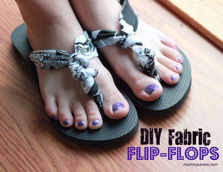 DIY fabric flip-flops