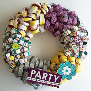 17 Best Images About Paper Wreaths On Pinterest Glitter