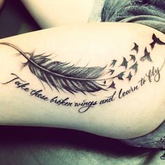 Take These broken wings and learn to fly                                                                                                                                                                                 More
