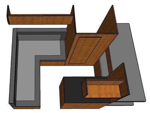 4 berth camper layout idea with bunk beds