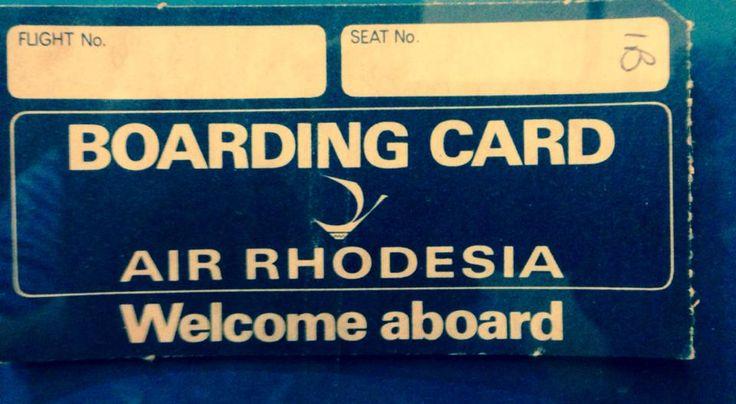Air Rhodesia boarding card
