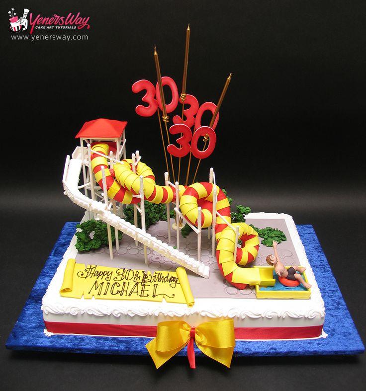 Waterslide Cake - Yeners Way