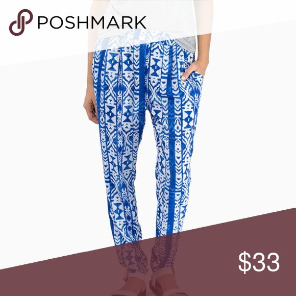 FLASH SALE TODAY Tobi blue and white pants Cute blue and white lightweight flowy pants from Tobi size small Tobi Pants