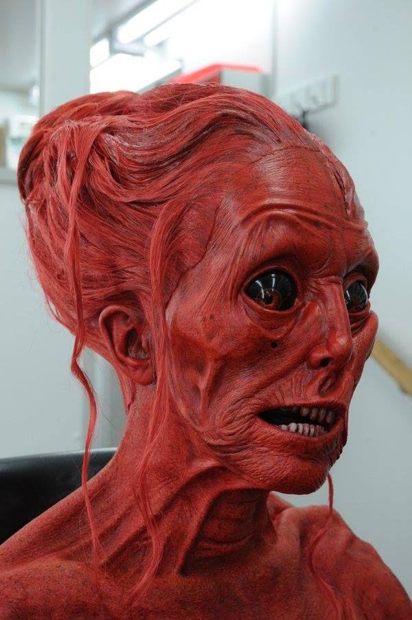 Crimson Peak (2015) Doug Jones as Lady Sharp, makeup by David Martí & DDT Efectos Especiales.