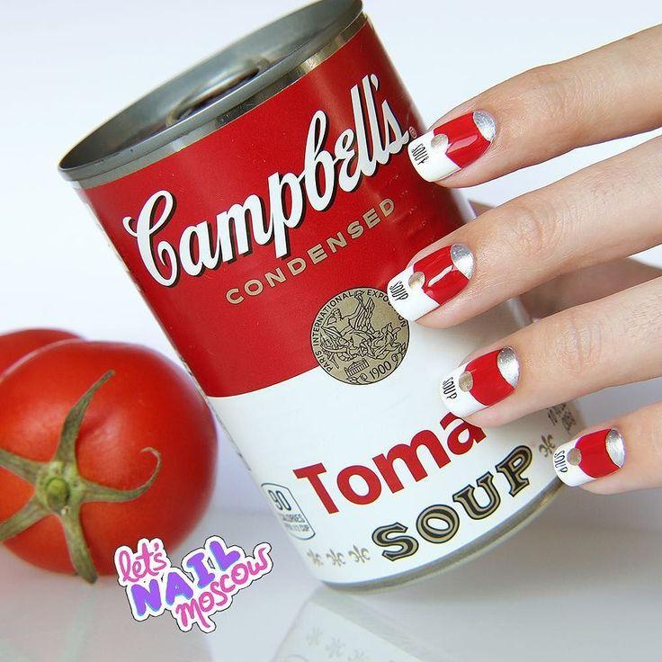 #nails #nailart #beautifulnails #funnails #ногти #маникюр #красивыеногти Ииии к первому дню #31dc2016 мои #rednails  Campbell's tomato soup  вдохновивший Энди Уорхолла и меня не оставил равнодушной))