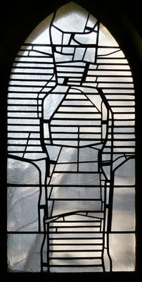 Ludwig Schaffrath 1965 - amazing example of stained glass using just lead lines and clear glass.