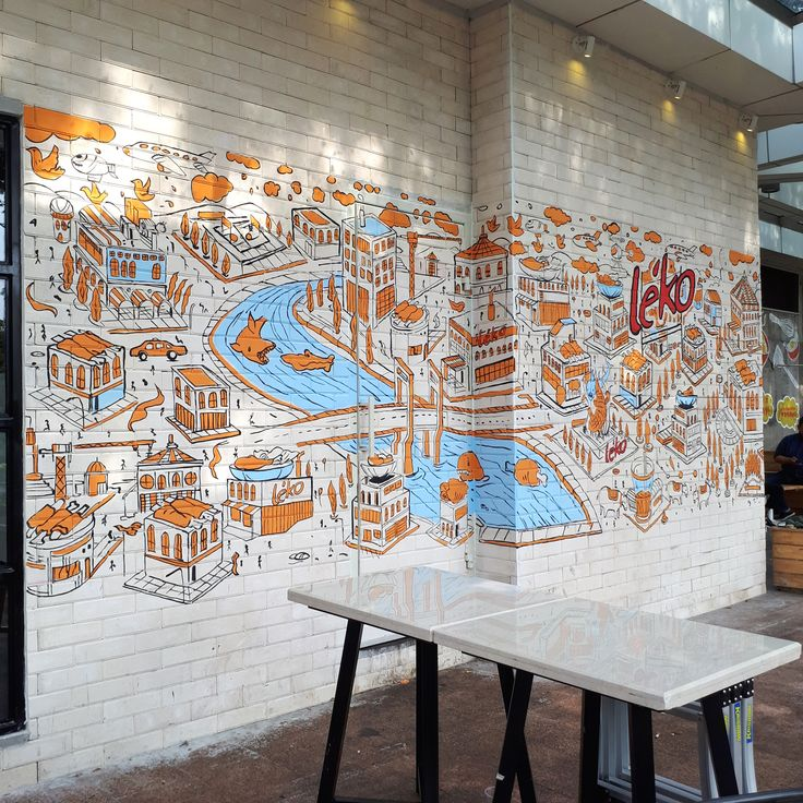 Jasa Mural, Jasa Lukis Dinding, Jasa Mural Cafe, Jasa Mural Restoran, Mural Cafe, Jasa Mural Tangerang, Leko Summarecon Mall Serpong, Warung Leko