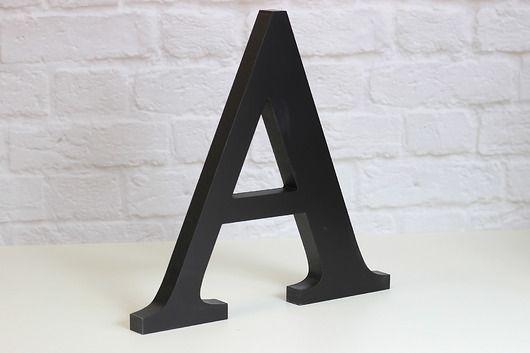 dodatki - dekoracje - napisy-Drewniane mdf litery stojące 3D inicjały h25