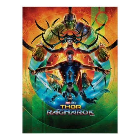 Thor: Ragnarok | Concentric Circle Movie Collage Poster - click/tap to personalize and buy