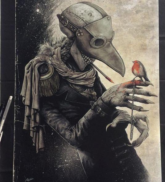 Los sorprendentes dibujos surrealistas del artista Christopher Lovell