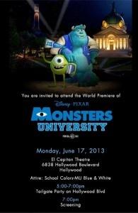 Monsters University Premier I'm Going to Hollywood #MonstersUPremier