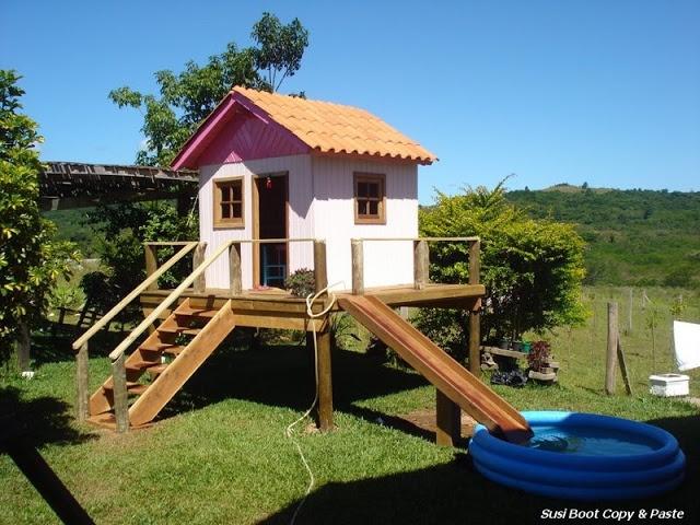 Entre Barrancos (MANUALIDADES): Casitas infantiles en el jardín