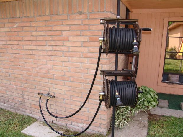 12 Best Images About Garden Hose Mount On Pinterest
