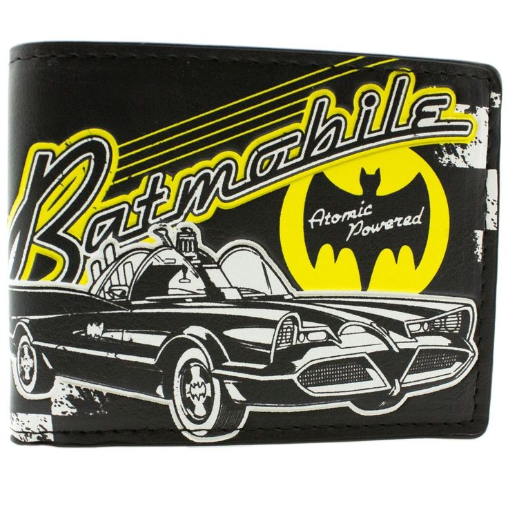 The unique Wallet Batman Batmobile Car Old Comics Retro Vintage   -