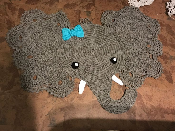 Crochet Elephant Rug : ... Crochet Elephant on Pinterest Elephant Pattern, Crocheting and