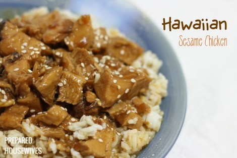Hawaiian Sesame Chicken Food Storage Recipe from: www.Prepared-Housewives.com #food storage #recipe