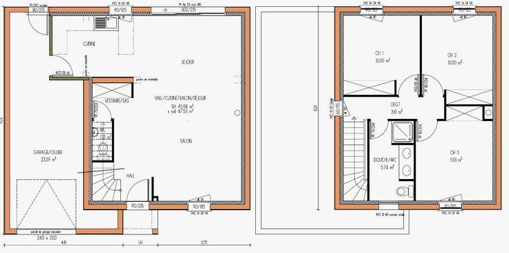 Plan Maison R 1 100m2 Charmant Plans Maisons On Pinterest Of Plan Maison R 1 100m2 Frais Plan De ...