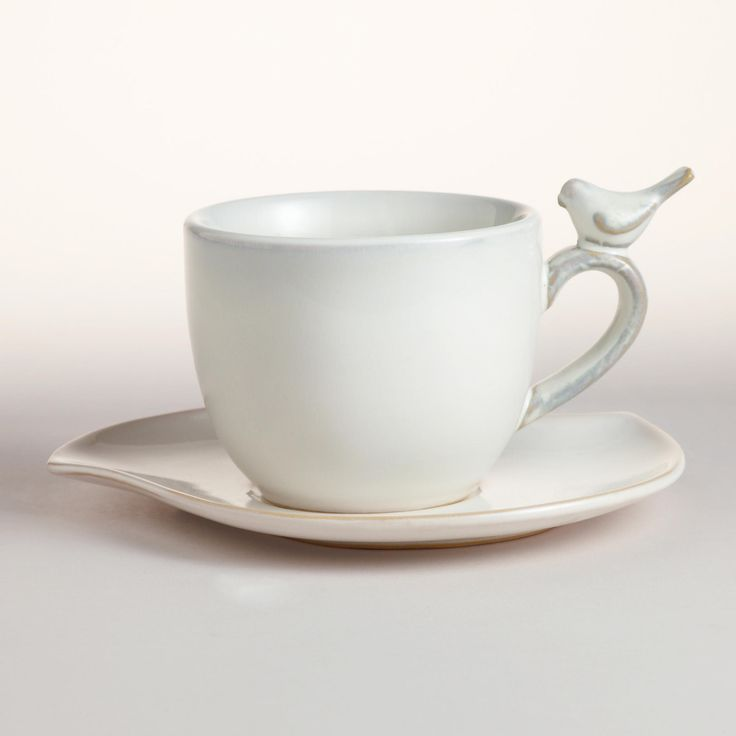 bird cups and saucer   Bird Cups & Saucers, Set of 4   World Market