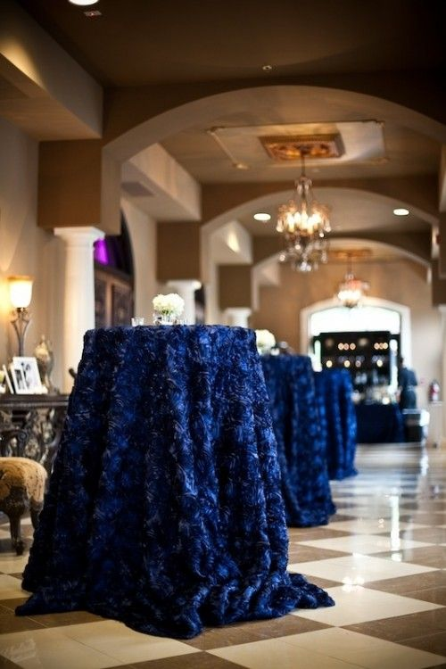 Cocktail Table Decorations Ideas 2014 spring luxury wedding reception table decorations archives weddings romantique 35 Stunning Midnight Blue Color Wedding Ideas Perfect For Fall And Winter Weddingomania