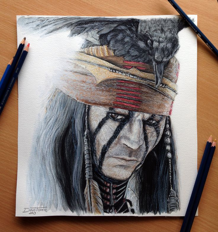 The lone ranger tonto color pencil drawing happy how this one turned out was fun to draw something smaller again not sure if i overdid it with the de
