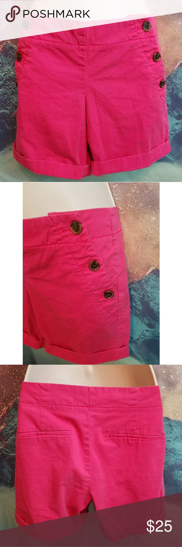 J. Crew Hot Pink Chino Shorts Size 2 Hot Pink Shorts Excellent Condition J. Crew Shorts