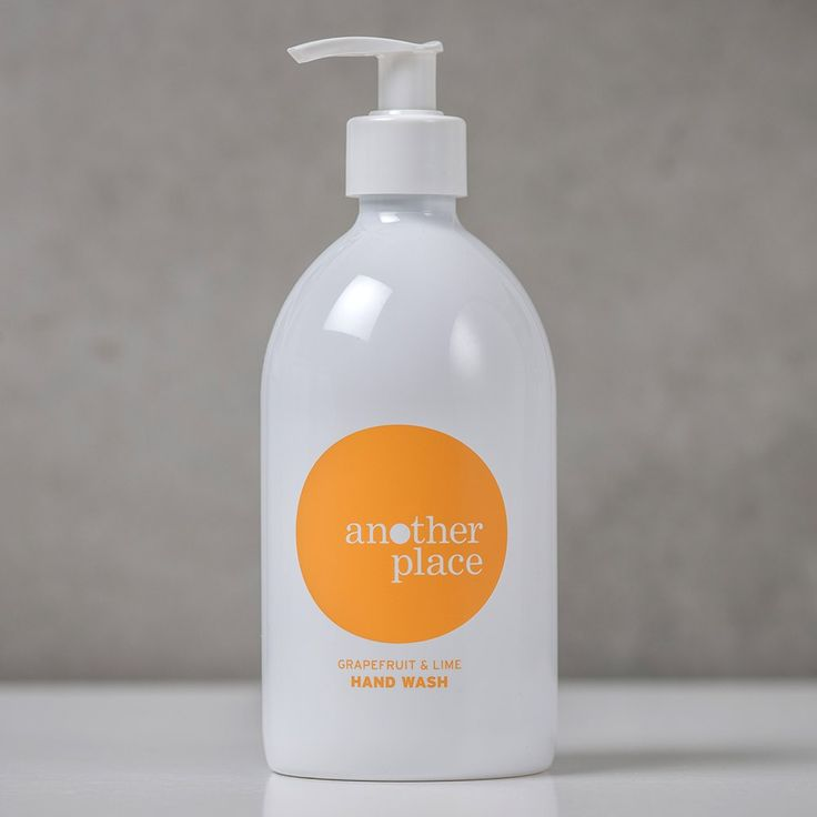 The Another Place grapefruit and lime hand wash (500ml). Handmade with pure essential oils of grapefruit, lime, peppermint & orange for a naturally refreshing clean. Available online - £15 - at: www.anotherplace.co.uk/bath-and-body/another-place-hand-wash.html