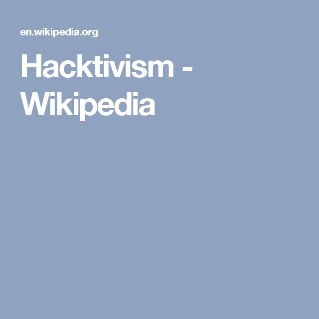 Hacktivism - Wikipedia