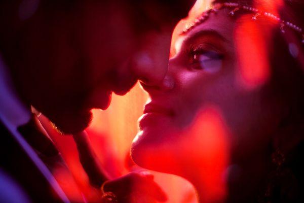 Steamy romantic kiss, photo by Studio Uma | via junebugweddings.com
