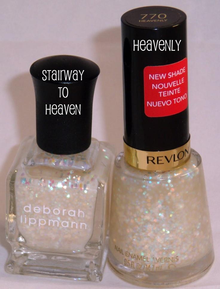 Deborah Lippman Stairway to Heaven vs Revlon Heavenly