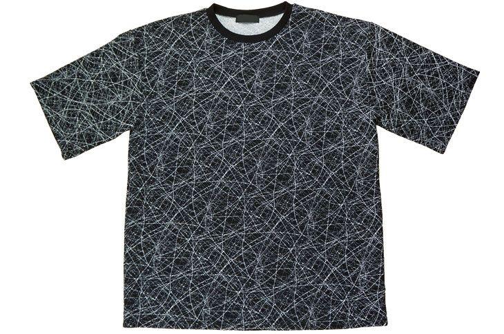 ユニセックス オーバーサイズ 総柄 Tシャツ 白 黒 レディース ファッション HARAJUKU BIGサイズ 裏原 原宿系 ダンス 衣装 ヒップホップ 派手