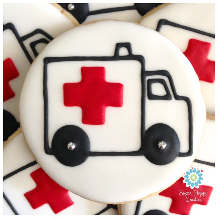 Sugar Cookie Emergency! Ambulance cookies