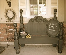 Bench made from a bed??? I'm considering this with an old family piece that I don't have a place for.