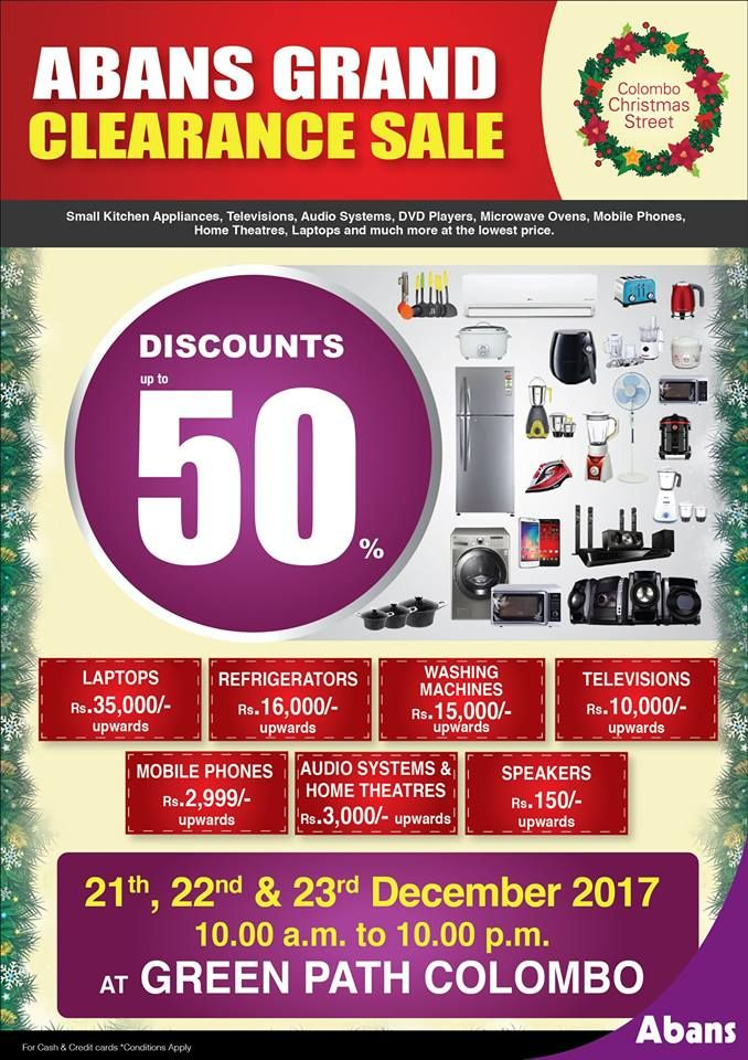 01 page, Abans Grand Clearance Sale! | Special Offers - Sri