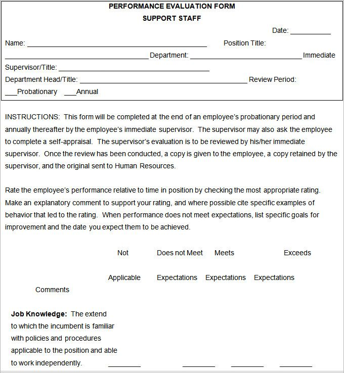 Best 25+ Employee evaluation form ideas on Pinterest Self - appraisal order form