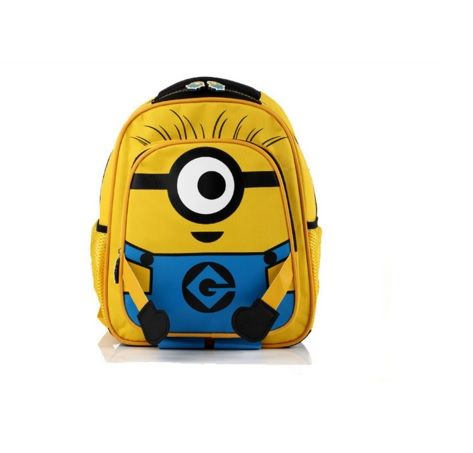 Children School Backpack with Minion Printing