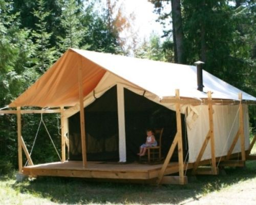 17 best images about tent living ideas on pinterest out for Wall tent idaho