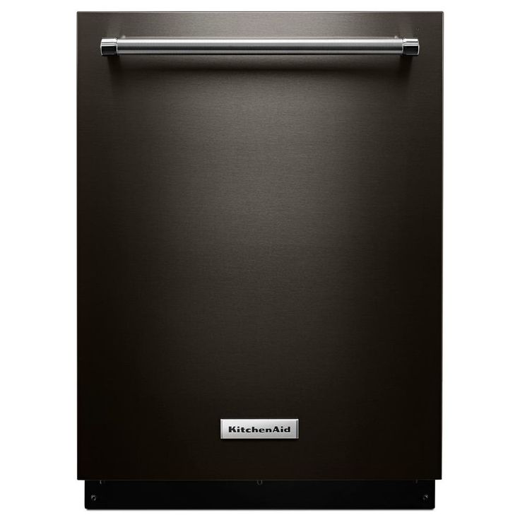 KitchenAid 23.9 in. Top Control Built-In Tall Tub Dishwasher in Black Stainless with Stainless Steel Tub