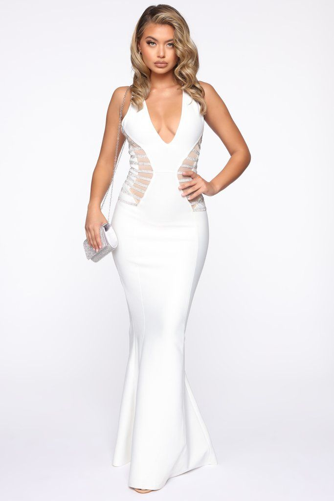 19+ White mermaid maxi dress information
