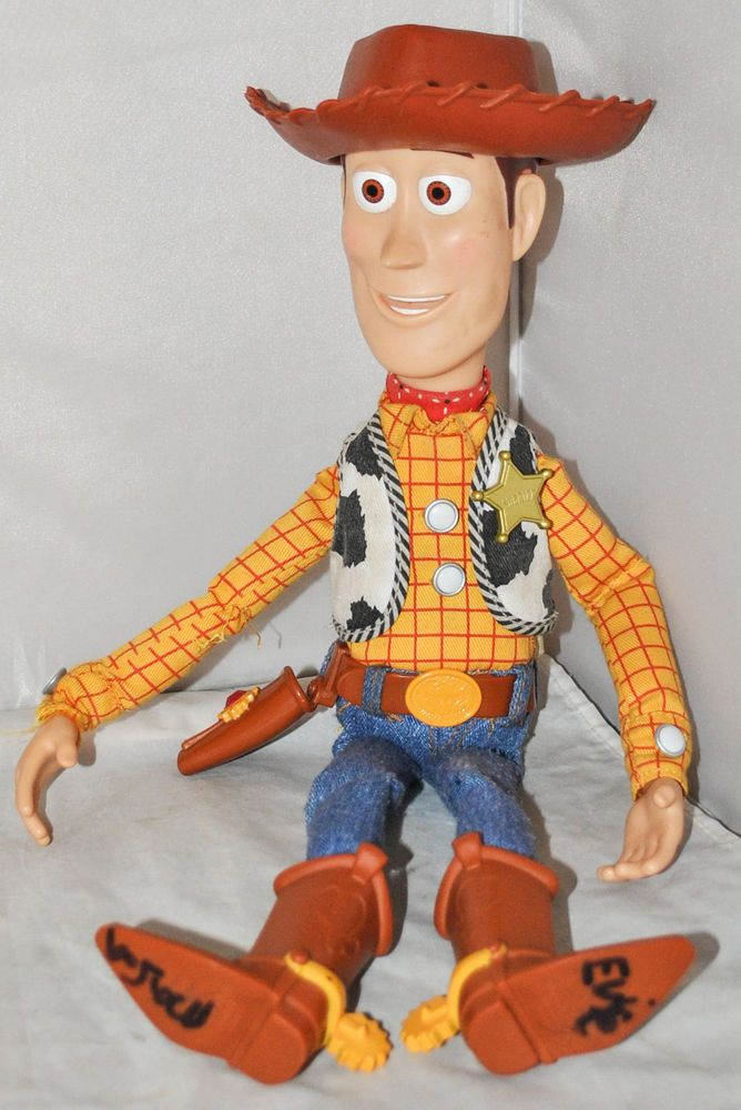 Disney Pixar Toy Story 15  Talking Sheriff Woody Doll Figure with Hat, Working