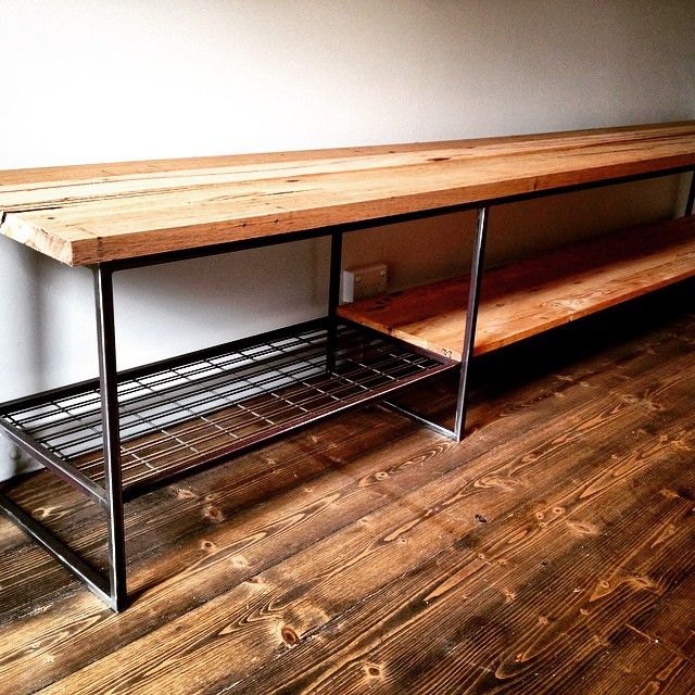 Andrew & Megan Brown has just put the finishing touches on a entertainment unit we made. Andrew wanted to do the timber himself. The industrial look certainly works well with the warmth of the timber. Quazi Design is happy to work with you to customise furniture to fit your space.  #custommade #bespoke #designer #australiandesign #industrialfurniture #spotswood