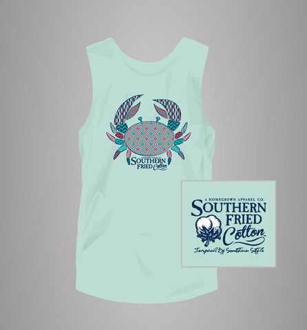 Pattern Crab Tank – Southern Fried Cotton