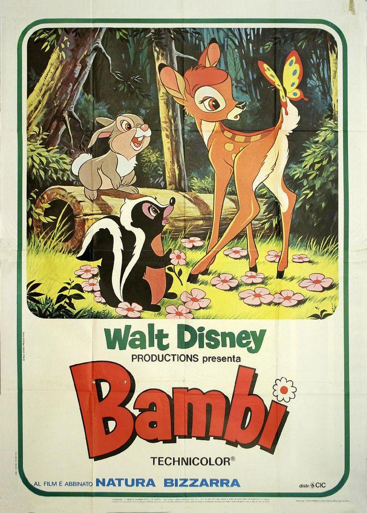vintage disney  | ... Owen Gallery  Vintage Posters  Movie  Disney  Bambi - Walt Disney