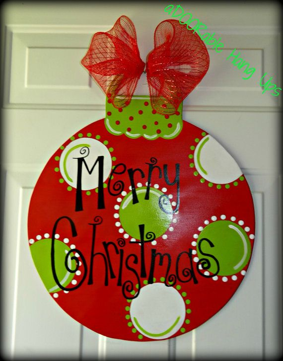 Christmas Ornament Door Hanger on Etsy, $30.00