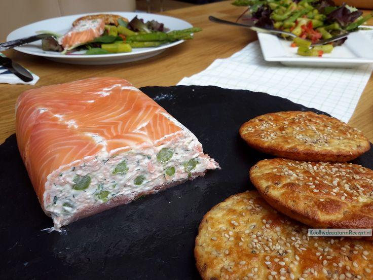 Bij de zalmterrine maakte ik groene asperge salade, daar gebruikte ik de rest van de asperges voor. Samen met een broodje een echt feestmaal!